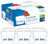 Fits BRITA Maxtra, 6 months' supply - water filter 6 pack - Aqua Optima Evolve EVS602