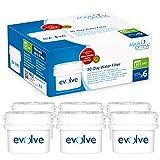 Fits BRITA Maxtra, 6 months' supply - water filter 6 pack - Aqua Optima Evolve EVS602