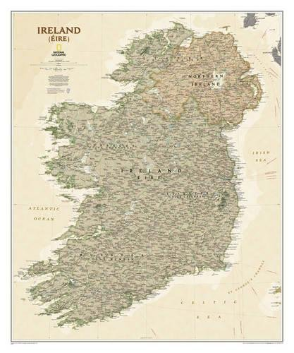 Ireland Executive, Laminated: Wall Maps Countries & Regions (National Geographic Reference Map) por National Geographic Maps