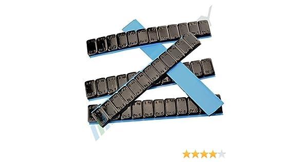 10 G 4 Pesi Adesivi 3KG Striscia Adesiva 50 Bullone Nero Pesi Equilibratura 5g *4