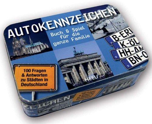 Autokennzeichen - Buch & Spiel für die ganze Familie: Die große Quiz-Box