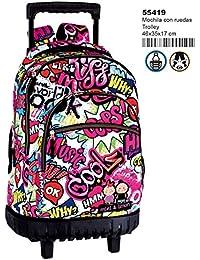 Montichelvo Montichelvo Trolley M&L Kiss Me Bolso de Viaje, 46 cm, (Multicolour)