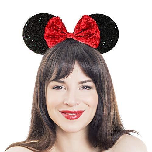 Minnie Kind Pailletten Ohren - Brandsseller Pailletten Haarreif mit großen Ohren