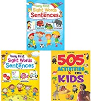 Very First Sight Words Sentences Level - 2 + Very First Sight Words Sentences Level - 1 + 505 Activities For K