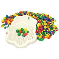 Play & Discover Two Peg Boards with 300 Plus  Pegs 3 Sizes