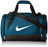 Nike unisex-adult Brasilia 6 Duffel Bag Duffel Bag, Turquoise (Midnight Turq / Black / White), M