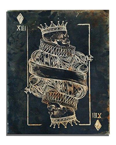 Totenkopf Karo König Leinwanddruck 48 x 38cm für (Erwachsene Krone Samt König)
