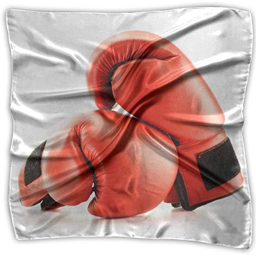 IMERIOi Rote Boxhandschuhe bedruckter Seidenschal quadratisch klein Taschentuch Trend 6606