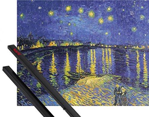 Poster + Hanger: Vincent Van Gogh Poster (50x40 cm) Sternennacht Über Der Rhône, 1888 Inklusive Ein Paar 1art1® Posterleisten, Schwarz