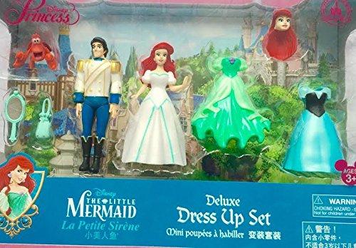 Authentic Disney - Kleine Meerjungfrau, Ariel und Prinz Eric deluxe Dress up Mode-Set enthält Figuren - Clip On (Dress Up Kleine Meerjungfrau)