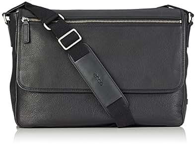 Ecco ECCO Gordon, Men's Shoulder Bag, Black (Schwarz (90000), 37x28x11 cm (B x H x T)
