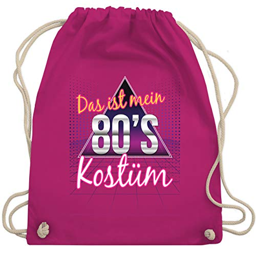 Karneval & Fasching - Das ist mein 80er Jahre Kostüm - Unisize - Fuchsia - WM110 - Turnbeutel & Gym Bag (Beliebte 80's Kostüm)