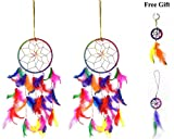 Handsofodisha Dream Catcher Car & Wall Hanging Dream Catcher, Attract Positive Dreams Set of 3 (#187)