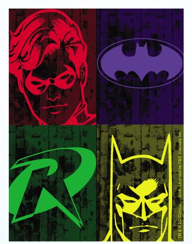 BATMAN & ROBIN SILHOUETTES, Officially Licensed Original Artwork, 3.75