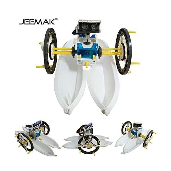 51nA2WC2sFL. SS600  - JEEMAK 14-en-1 para la Educación Solar Robot Kit