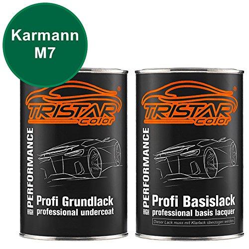 Preisvergleich Produktbild TRISTARcolor Autolack Set Dose spritzfertig Karmann M7 Zambesi Green / Sambesi Green Grundlack + Basislack 2, 0 Liter 2000ml