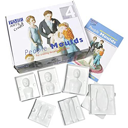 figuras kawaii porcelana fria PME Family of Four People Moulds, Set of 24 Pieces