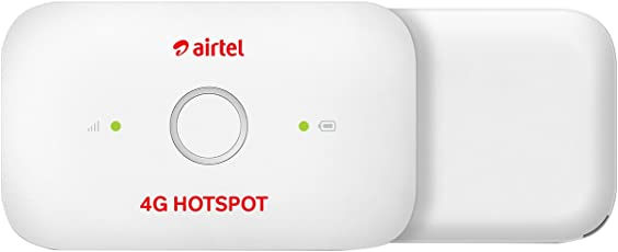 Airtel 4G Hotspot – E5573Cs-609 Portable Wi-Fi Data Device (White)