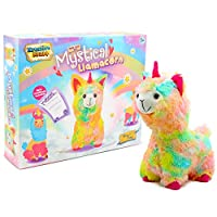 KreativeKraft Craft Sets For Girls, Build Your Own Rainbow Fluffy Cuddly LLama Unicorn Girls Toys Sewing Kits Includes Stuffing, Fun Alpaca or Llama Gifts, Unicorn Gifts For Girls
