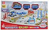 #9: Thomas Style DIY 109 Pcs 360 Loop Above Ground Train Set With Signal and LED (Blue)