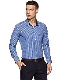 Amazon Brand - Symbol Men's Checkered Slim Fit Formal Shirt
