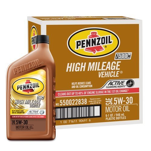 pennzoil-550022838-pk6-5w-30-high-mileage-vehicle-motor-oil-1-quart-pack-of-6-by-pennzoil