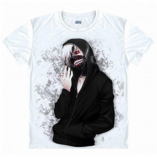 Tokyo Ghoul anime Kaneki Ken cosplay costume t shirt Taille asiatique L