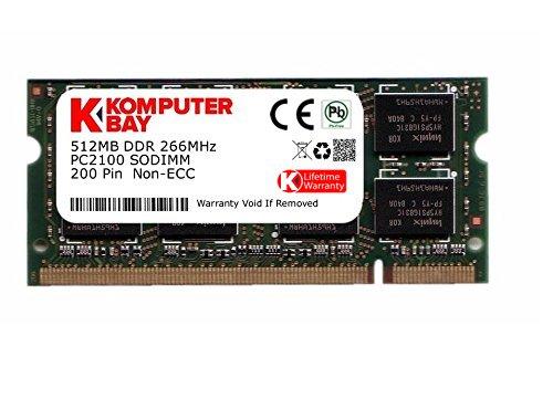 512mb 200 Pin Ddr Pc (Komputerbay 512MB DDR SODIMM (200 pin) 266Mhz PC2100 Laptop-Speicher)