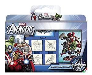 Multiprint - 7873 - Loisir Créatif - Valisette 7 Tampons - Avengers