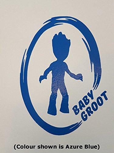 Guardians of the Galaxy Aufkleber Baby Groot inspiriert Wand Fenster Spiegel Vinyl Aufkleber, Small - 12cm x 9cm (Marvel Avengers-fenster Aufkleber)