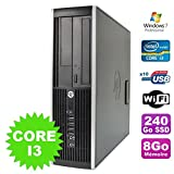 PC HP Compaq Elite 8100SFF Intel Core i3–5308GB Festplatte 240GB SSD DVD WiFi W7