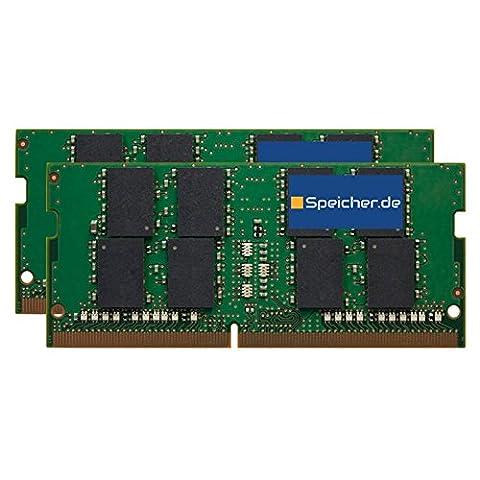 32GB (2x16GB) Kit RAM Speicher für Apple iMac Core i7 4.2GHz 27-Zoll (5K, Mid 2017) DDR4 SO DIMM 2400MHz PC4-2400T-S
