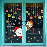Emwel 2 Pack Natale Vetrofanie Rimovibile Adesivi Murali Fai da te Finestra Decorazione Vetrina Wallpaper fiocco di neve Christmas Decor