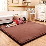 WENBIAOXUEDickere Tatami mat bodenmatte erker matratze Baby splittersichere Matte Schlafzimmer Teppich, 1 x 2 Meters (Thick 3cm), deep Coffee