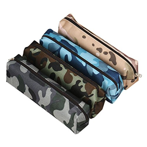 beauty-caseculater-4-colors-camouflage-pen-bag-pencil-case-pouch-stationery-cosmetic-makeup-bag-navy