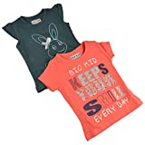 #10: Bio Kid Tees - Orange & Leaf Green Tee - 2 Pcs Pack (12- 18 Months)