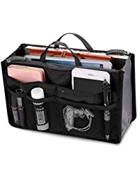 5094e691f5dd New Soul Ladies Travel Insert Handbag Organiser Tidy Bag Purse Liner  Cosmetic 13 Pocket Black
