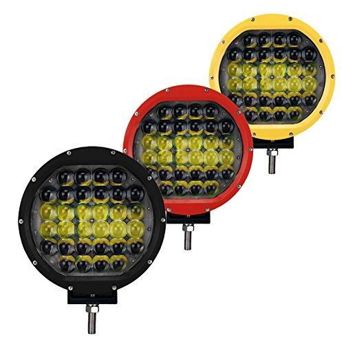 FUSKANG Nuove luci di lavoro a 9 pollici da 96W LED Faro dell'automobile, luci di ingegneria impermeabile rotonde Fuoristrada Jeep Refit Luci Fendinebbia Faretto Luce di inondazione, 12 V 24 V