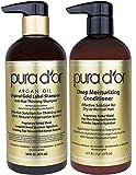 PURA D'OR - Juego de champú y acondicionador de terapia hidratante profunda, con ingredientes orgánicos y naturales para todos los tipos de cabello, hombres y mujeres (Combo (Shampoo y acondicionador)