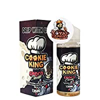 Cookie King E Liquid 120ml 0mg Shortfill USA American Dessert Gourmet Vape Juice Chocolate Lemon Wafer + Royal Vapery Band (Choco Cream) 18