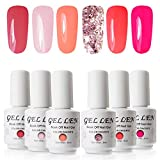 Gellen Vernis Gel Semi Permanent - Vernis à Ongles Vernis UV LED Gel Nail Polish Varnish Soak Off Manucure 6 Couleurs 8ml Nail Art Lot, #15