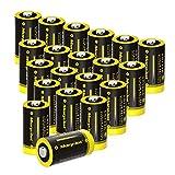 morpilot CR123A 3V Pilas Actualizadas, 20PCS CR123 1500mAh Pilas Metal de Litio No Recargables,...