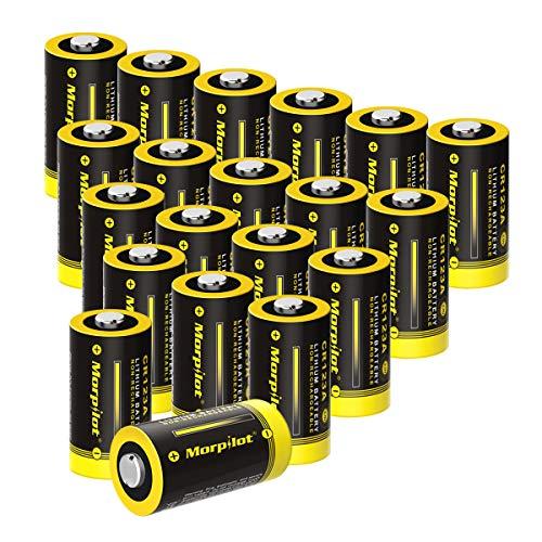 20-Pack CR123A Batterien, CR17345 1500mAh 3V Lithium Batterie für Digitalkameras, Alarmanlagen, Sicherheitstechnik, Rauchmelder, Taschenlampen usw. - [Nicht wiederaufladbar]