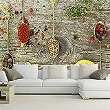 Lvabc Carta Da Parati Murale Personalizzata Spice Spoon Food Wallpapers Ristorante Cucina Coffee Shop Sfondo Wallpaper3D-120X100Cm