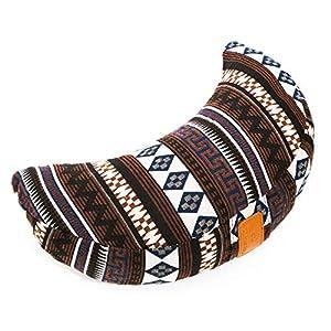 #DoYourYoga® Meditationskissen/Yogakissen in Halbmond-Form Amal – gefüllt mit Bio-Dinkelspelz (KBA) – waschbarer Bezug/hoher Sitzkomfort – ideal auch als Sitzkissen & Wohnkissen