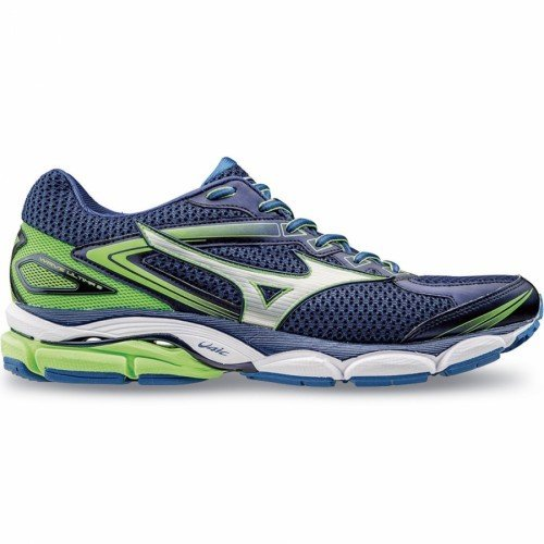 Mizuno Wave Ultima 8, Chaussures de Running Compétition Homme TwilightBlue/Silver/GreenGecko