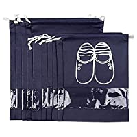Shoe Bag - Shoe Storage Travel Accessories 6 Pack Shoe Bags with Drawstring Portable Dust-proof Breathable Shoe Organizer Bags Space Saver Storage Bags - DoGeek (6 pcs)