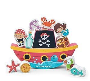 Le Toy Van - Barco de Equilibrio Pirata de Madera Rock N