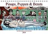 Pin-ups, Puppen & kleine Monster (Tischkalender 2019 DIN A5 quer): Burlesque Pinup Zeichnungen mit flottem Strich - Pinups, Puppen & Beasts (Monatskalender, 14 Seiten ) (CALVENDO Menschen)