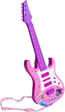 Toy Sports House Pink Rock anad Roll Musical Instrument Guitar Toy for Girl 46 cm
